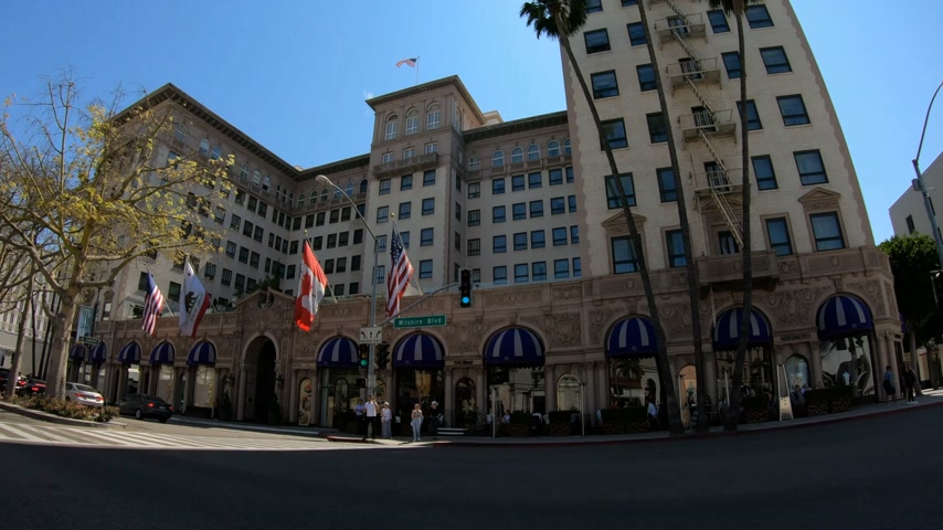 オートクチュール : Beverly Wilshire Hotel in Beverly Hills - LOS ANGELES. USA - MARCH 18, 2019