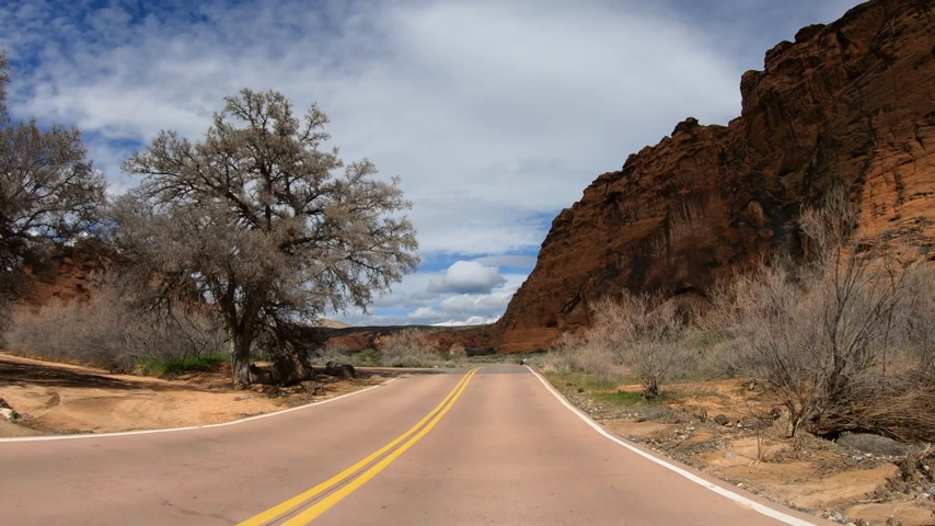 drive through : Drive through Snow Canyon in Utah