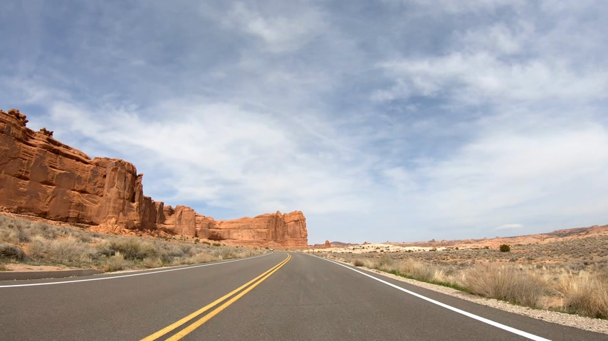 plateau : Drive through Arches National Park in Utah