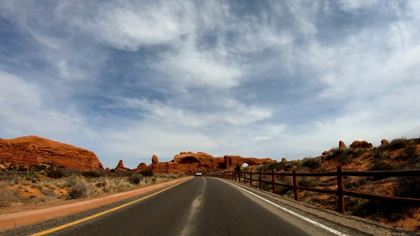 pináculo : Drive through Arches National Park in Utah