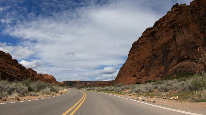 sudoeste : Drive through Snow Canyon in Utah
