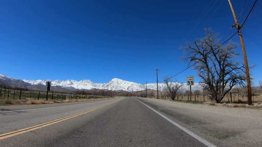 tripping : POV Drive at Inyo County and Yosemite in California Stock Footage
