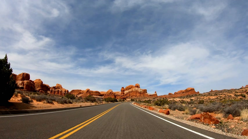 moab : POV Drive at Snow Canyon in Utah