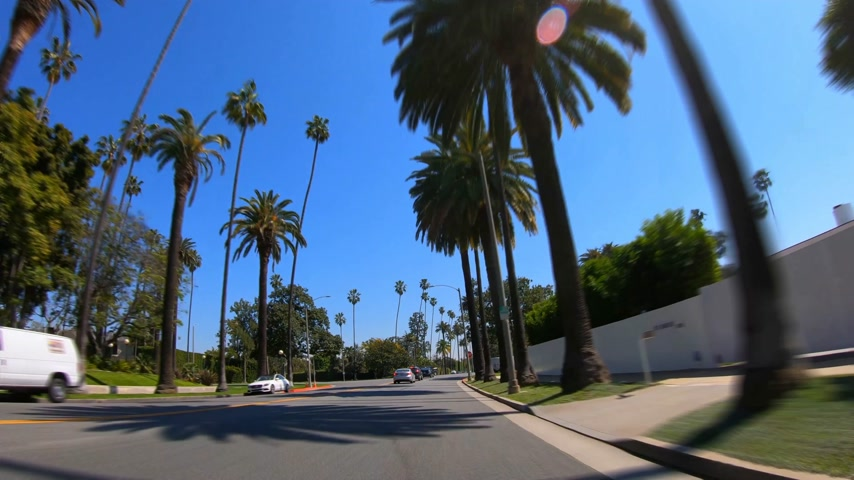 видя : Hyperlapse Drive through Beverly Hills