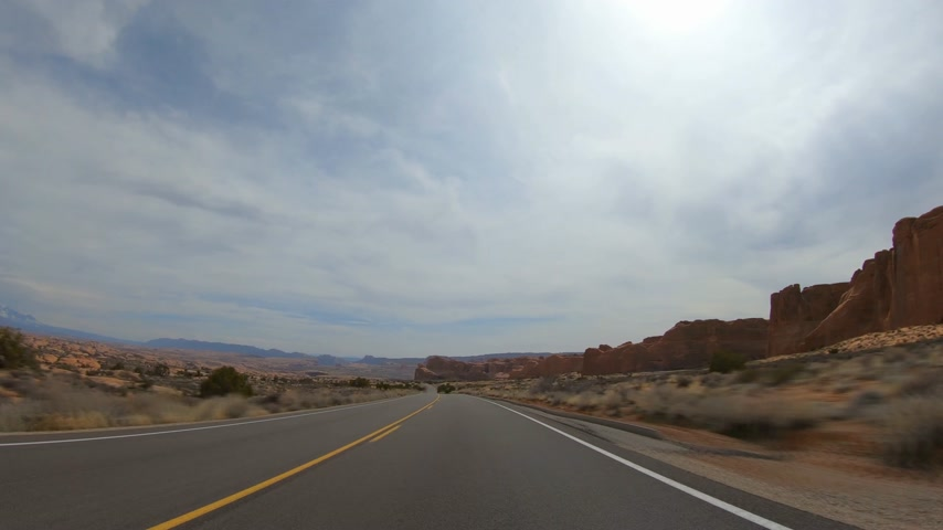 sudoeste : Hyperlapse Drive through Arches National Park in Utah