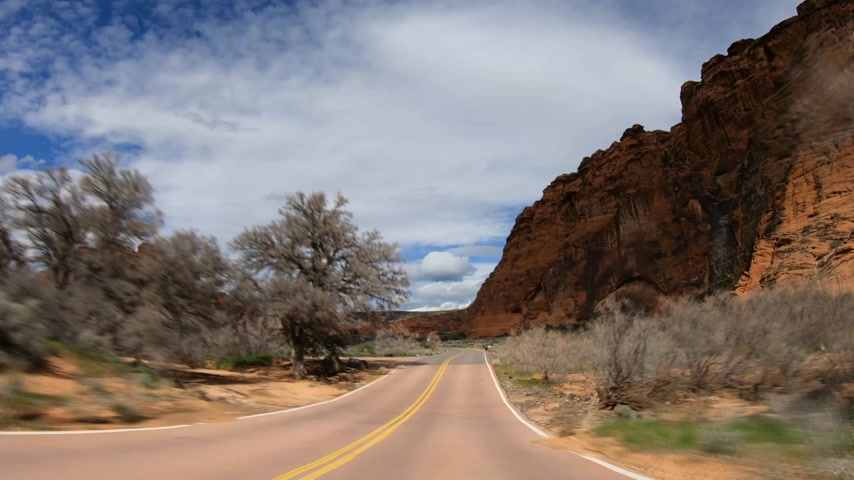 arenito : Hyperlapse Drive through Snow Canyon in Utah
