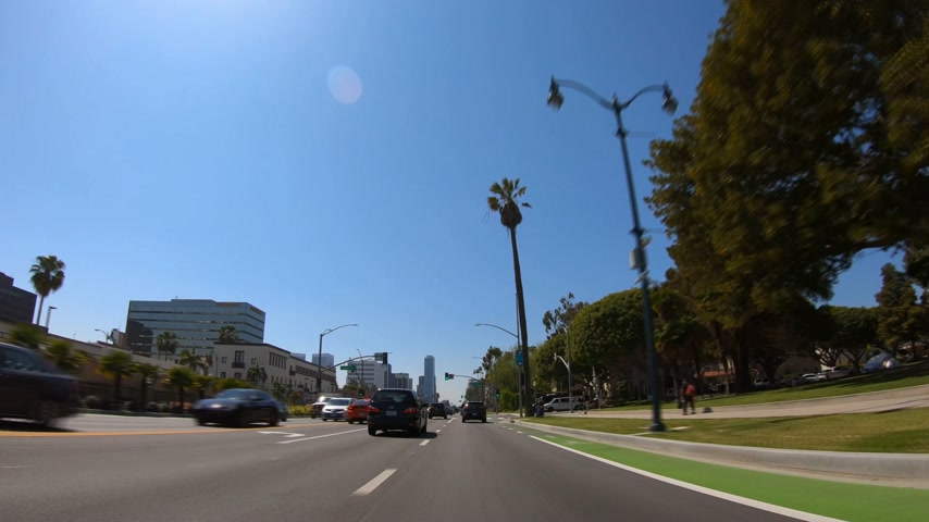 körút : Hyperlapse Drive through Beverly Hills - LOS ANGELES, USA - MARCH 18, 2019