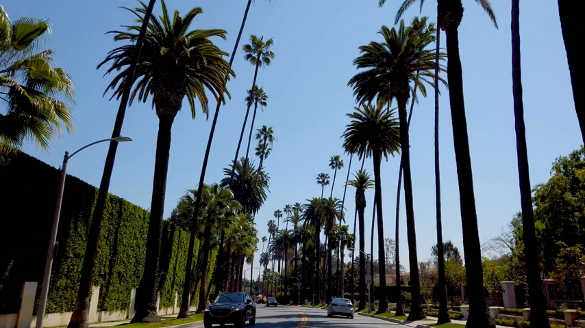 vaqueiro : Driving through the streets of Beverly Hills - travel photography Stock Footage