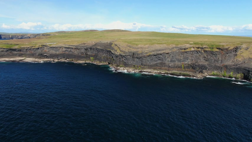 eire : Wonderful Cliffs of Kilkee at the Irish west coast