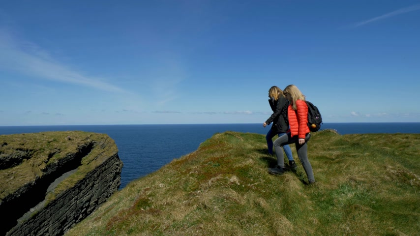 eire : Amazing Atlantic coast of Ireland with its steep cliffs