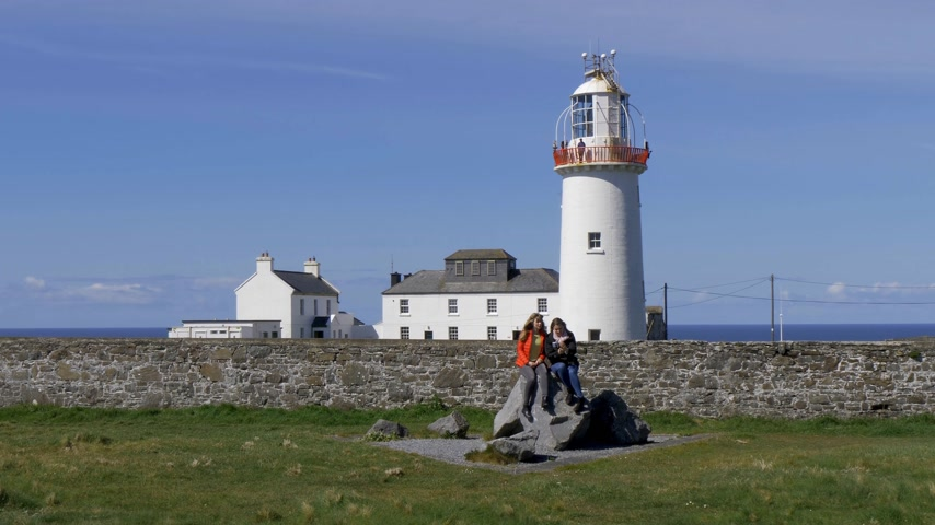 eire : Lighthouse at the Irish west coast
