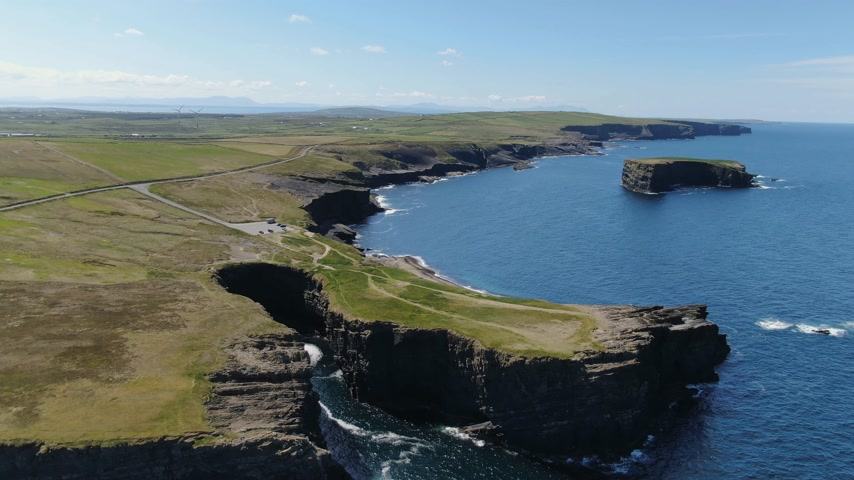 gyrophare : Loop Head at County Clare in Ireland - aerial drone footage
