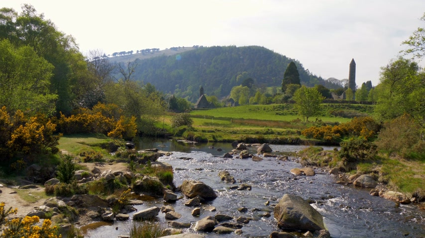 monacale : Beautiful landscape of Glendalough in the Wicklow Mountains of Ireland
