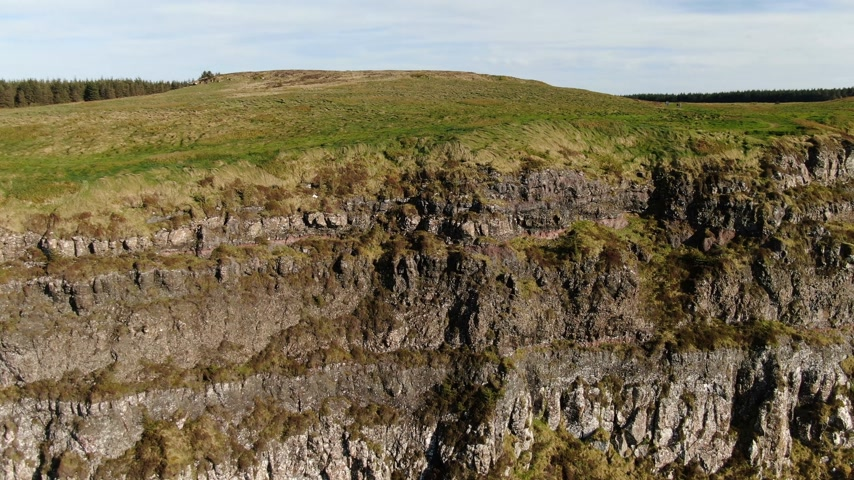 mitologia : Flight over the Cliffs of Binenenagh in North Ireland