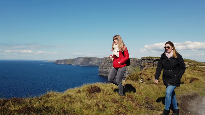 kelt : Walking at the beautiful Irish west coast on a sunny day