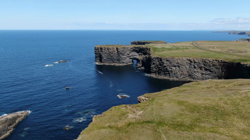 eire : Beautiful Kilkee Cliffs at the west coast of Ireland