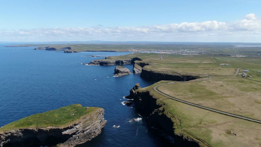epic clouds : Beautiful Kilkee Cliffs at the west coast of Ireland
