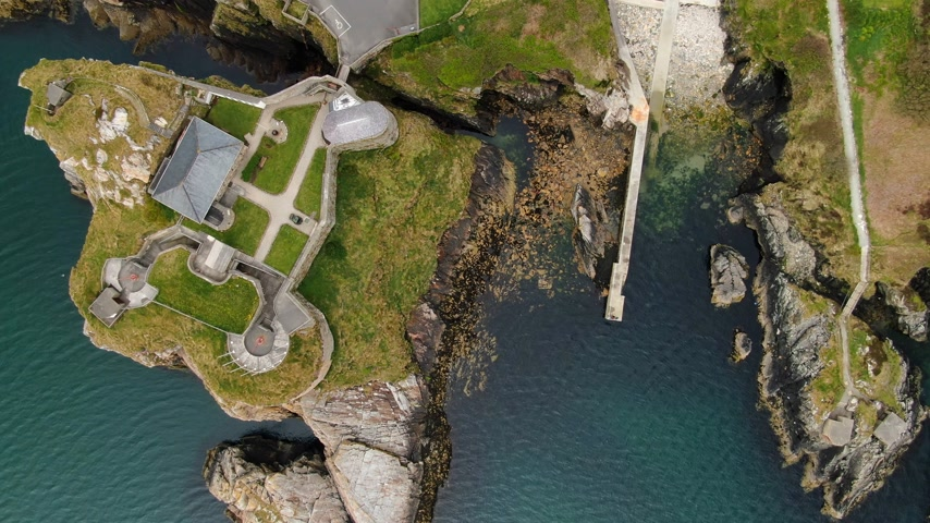 head over : Flight over Fort Dunree at Dunree Head in Ireland