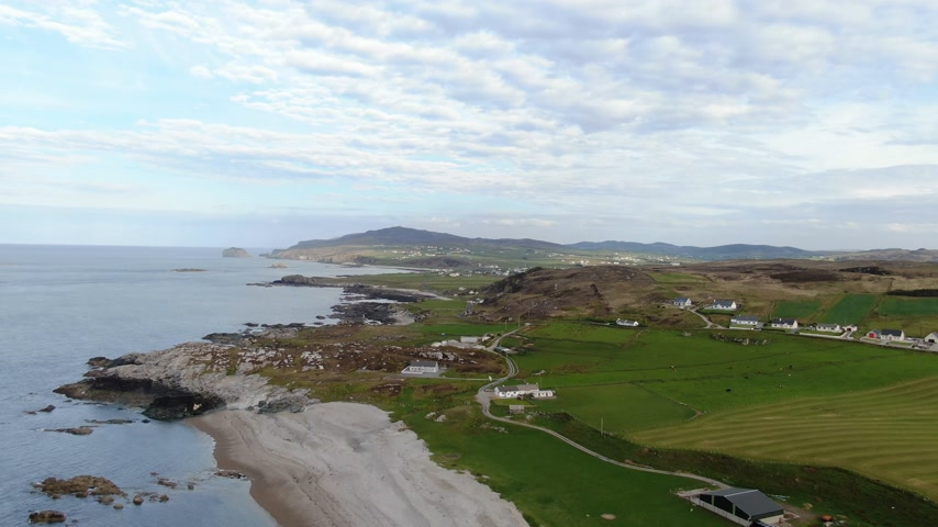 ziguezague : Malin Head - the most northern point of Ireland Stock Footage