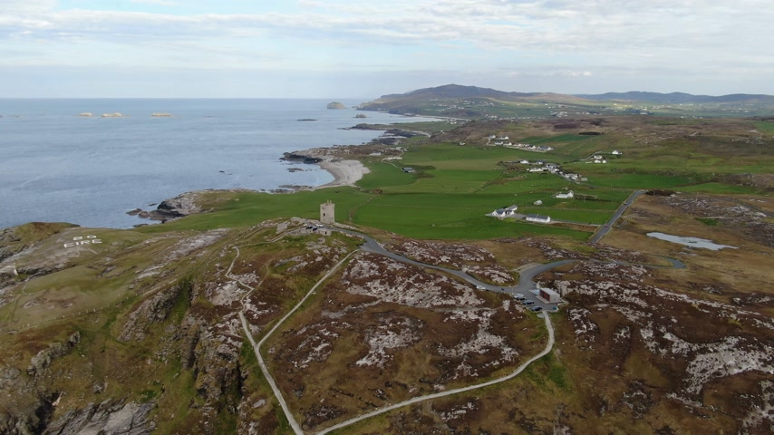 zigzag : Malin Head - the most northern point of Ireland Stock Footage