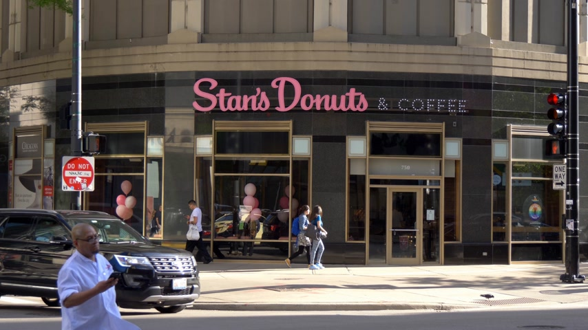 ミシガン州 : Stans Donuts and coffee in Chicago - CHICAGO. UNITED STATES - JUNE 11, 2019