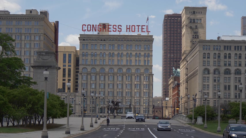 kongres : Congress Hotel in the city of Chicago - CHICAGO. UNITED STATES - JUNE 11, 2019