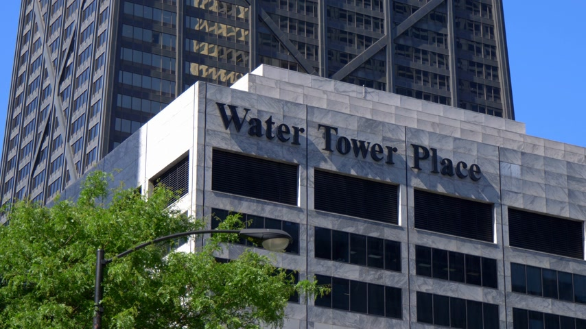 ミシガン州 : Water Tower Place in Chicago - CHICAGO. UNITED STATES - JUNE 11, 2019