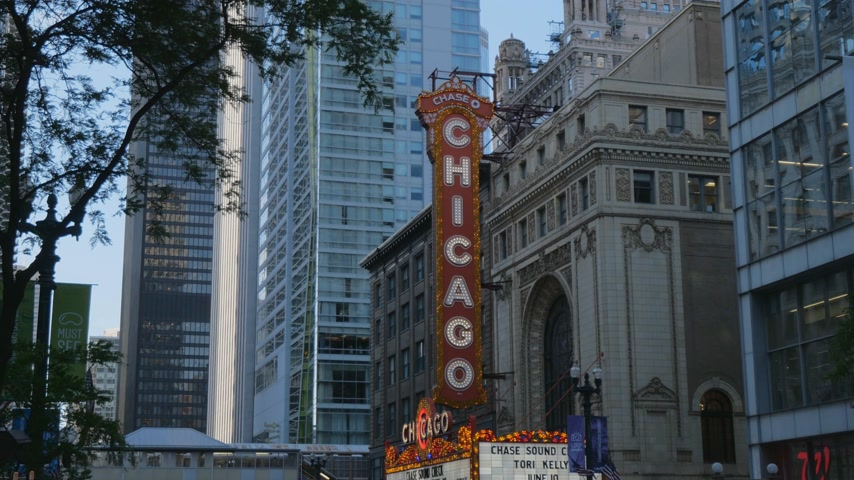 июнь : Famous Chicago Theater at State Street former Balaban and Katz Theater - CHICAGO, UNITED STATES - JUNE 11, 2019