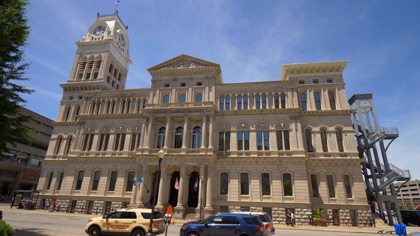 derby : Louisville City Hall Building Stock Footage
