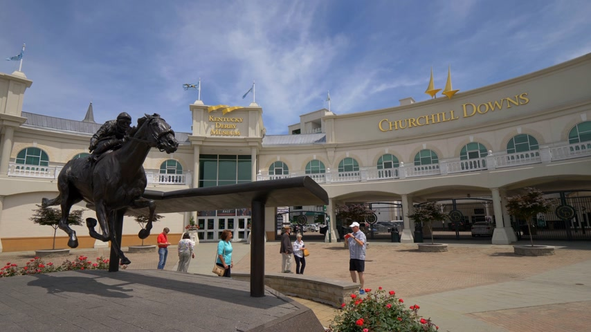 derby : Churchill Downs and Kentucky Derby museum in Louisville - LOUISVILLE, USA - JUNE 14, 2019