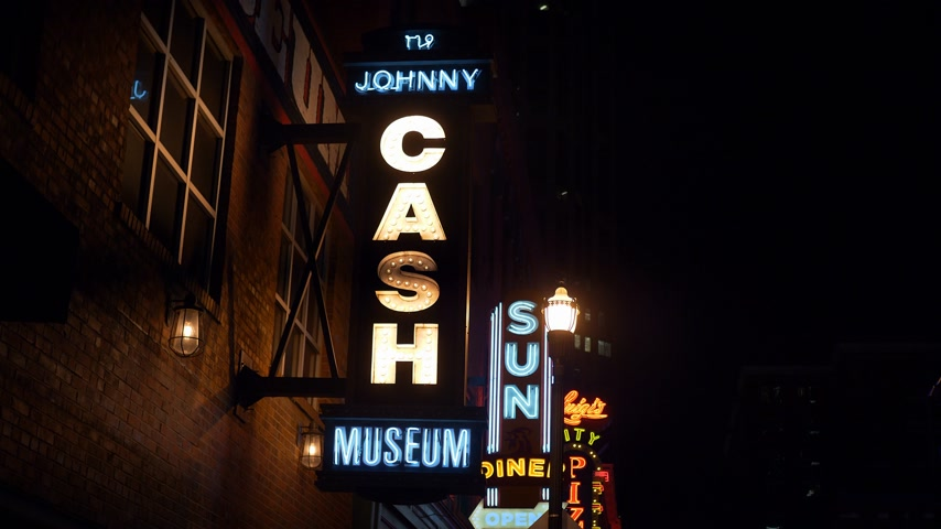 urban scenics : Johnny Cash museum in Nashville - NASHVILLE, UNITED STATES - JUNE 16, 2019