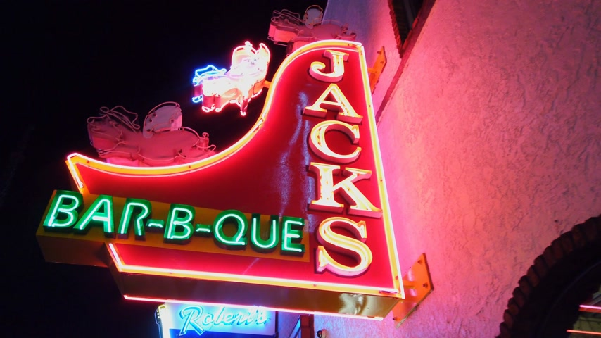 méz : Jacks Bar-b-que on Nashville Broadway - NASHVILLE, USA - JUNE 16, 2019