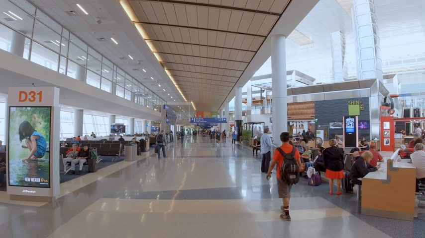 lobby : Departure Gates at Dallas Fort Worth Airport - DALLAS, USA - JUNE 20, 2019