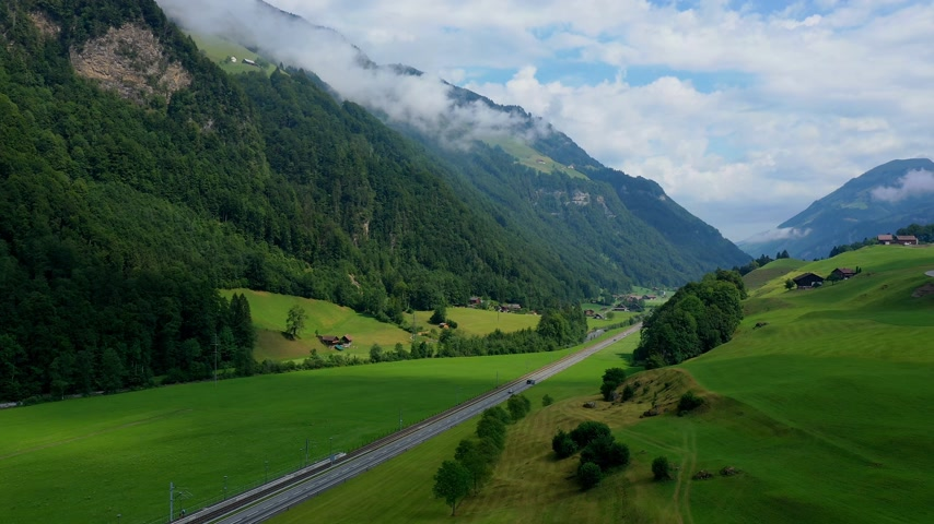 svájc : The Alps of Switzerland - flight over the Swiss landscape