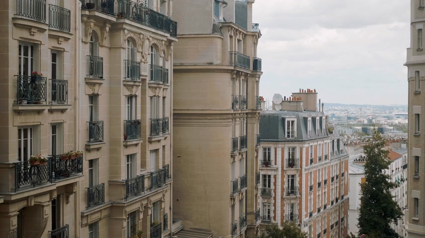 parisli : Typical house facades in Paris France