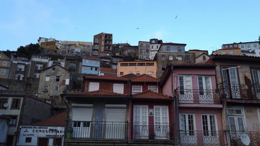 典型的な : The typical old buildings in the historic district of Porto - CITY OF PORTO, PORTUGAL - SEPTEMBER 18, 2019 動画素材