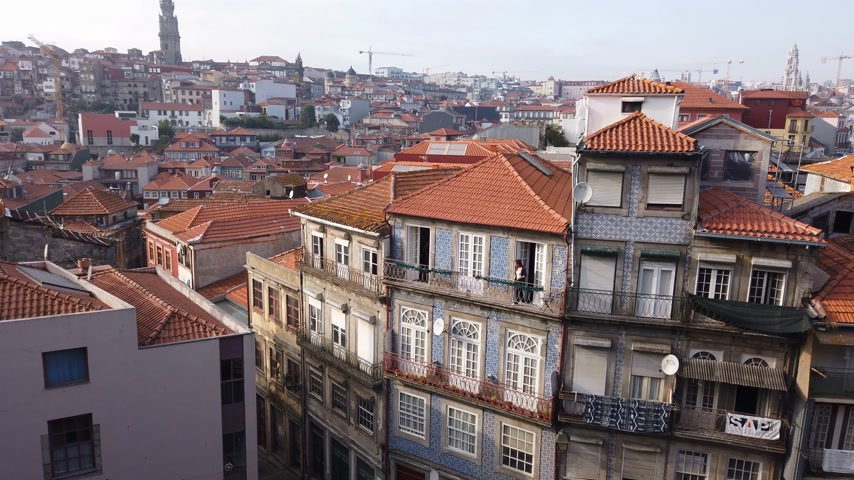 portugál : Beautiful city of Porto - aerial view - CITY OF PORTO, PORTUGAL - SEPTEMBER 18, 2019