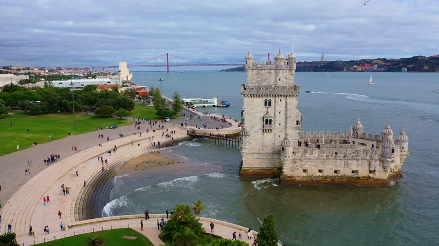 belem : Belem Tower in Lisbon is a famous landmark in the city