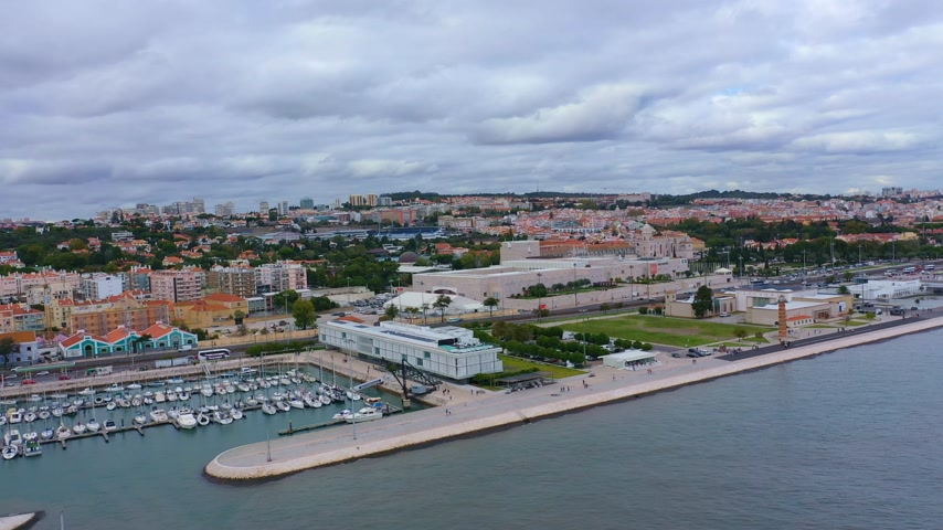 lizbona : The city of Belem at Lisbon from above