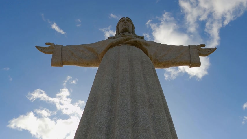 salvezza : Huge Cristo Rei statue on the top of Almada in Lisbon