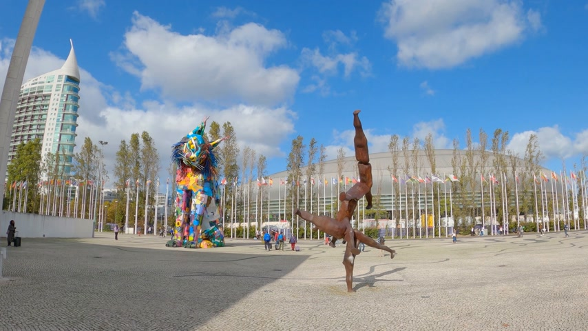 lisboa : park of Nations at Expo district in Lisbon - CITY OF LISBON, PORTUGAL - NOVEMBER 5, 2019