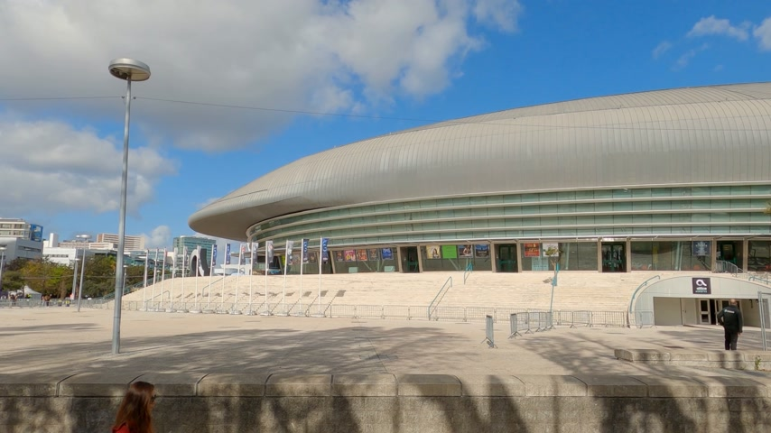 expo : Lisbon Altice Arena at the park of Nations also called Atlantic Pavilion - CITY OF LISBON, PORTUGAL - NOVEMBER 5, 2019