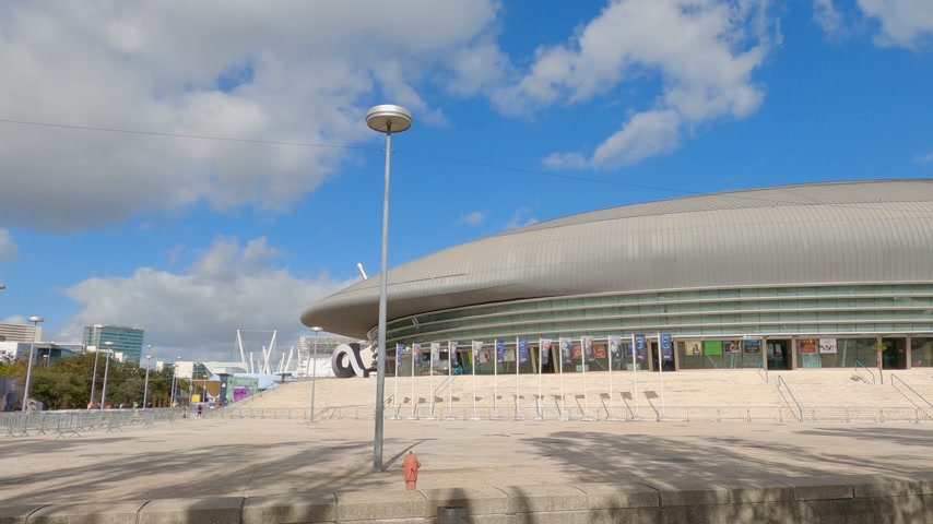 экспозиция : Lisbon Altice Arena at the park of Nations also called Atlantic Pavilion - CITY OF LISBON, PORTUGAL - NOVEMBER 5, 2019