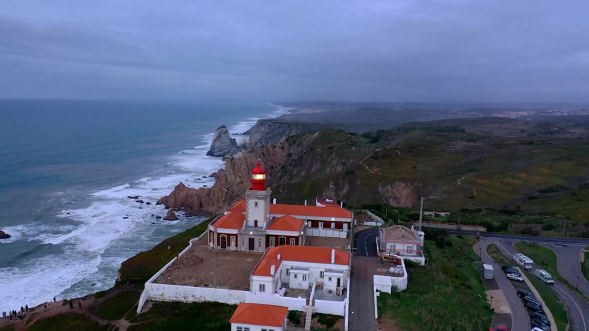 Западная Европа : Evening view over the lighthouse of Cabo da Roca in Portugal