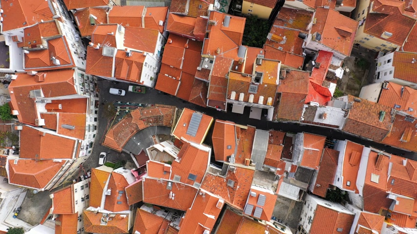 alfama : Over the rooftops of Lisbon on Alfama hill Stock Footage
