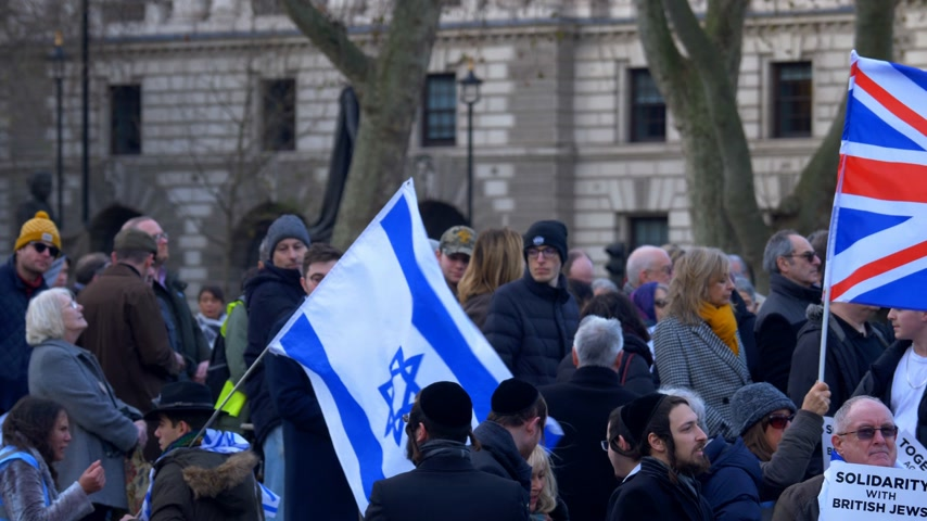 discurso : history of British Jews in London - LONDON, ENGLAND - DECEMBER 10, 2019 Vídeos