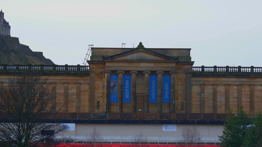 intereses : Scottish National Gallery en Edimburgo - EDIMBURGO, ESCOCIA - 10 de enero de 2020 Archivo de Video