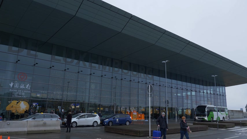 luxemburg : Airport of Luxemburg Terminal building - CITY OF LUXEMBURG, LUXEMBURG - JANUARY 10, 2020