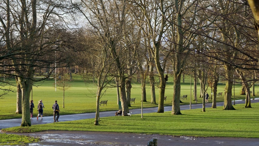 local de interesse : Inverleith Park in Edinburgh - EDINBURGH, SCOTLAND - JANUARY 10, 2020
