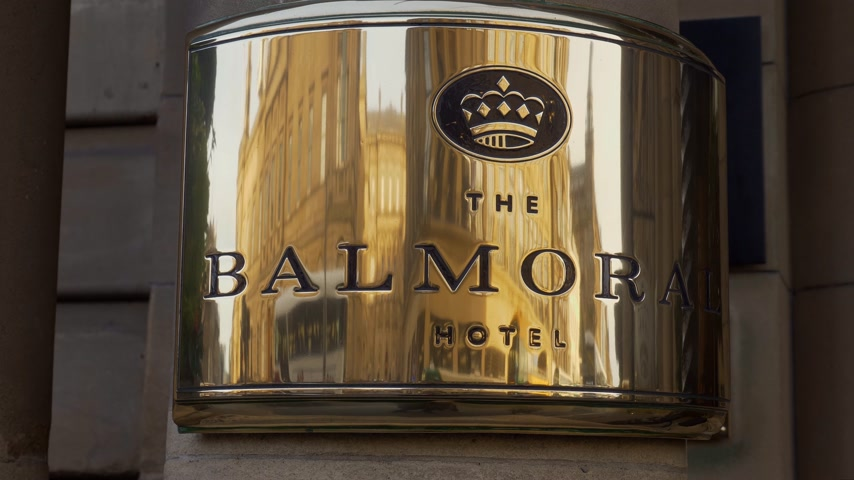 built structure : The Balmoral Hotel in Edinburgh - EDINBURGH, SCOTLAND - JANUARY 10, 2020
